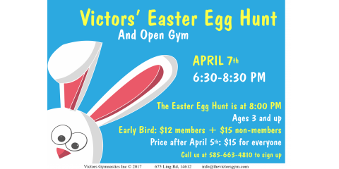 Victors Easter Hunt Egg Open Gym (Early Bird), Greece, New York
