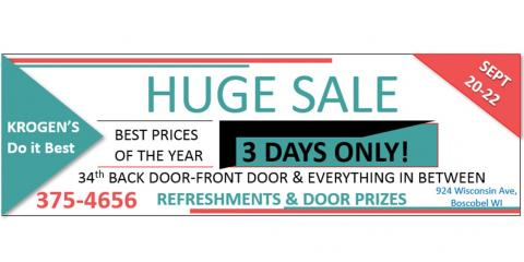 34th Back Door-Front Door & Everything In Between Sale, Boscobel, Wisconsin