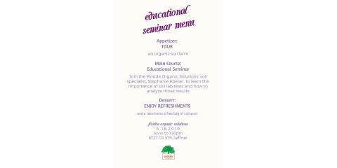 Educational Seminar: Soil Fertility, Brandon, Florida