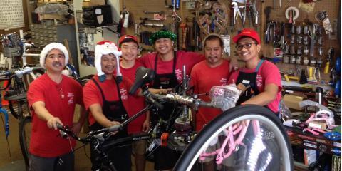 Eki Cyclery Helps Shoppers Put a Bicycle Under The Christmas Tree With Their Layaway Program, Honolulu, Hawaii