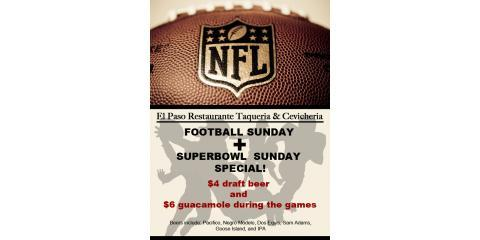 Join El Paso Mexican Restaurant on Super Bowl Sunday For Beer & Food Specials in Spanish Harlem, Manhattan, New York