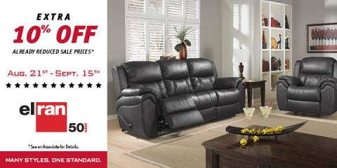 Extra 10% OFF Elran Furniture, Lawrence, Indiana
