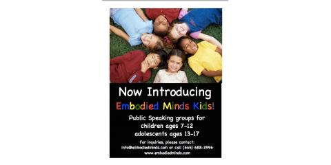 Embodied Minds: Public Speaking Consultants Now Offers Public Speaking Classes For Youths, Manhattan, New York