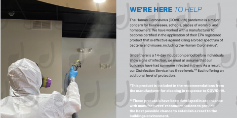 Whole Building Disinfecting Services, High Point, North Carolina