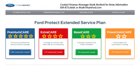 FORD WARRANTY COVERAGE, Versailles, Kentucky