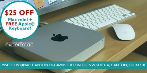 $25 OFF Mac® Mini + Free Apple® Keyboard , Canton, Ohio