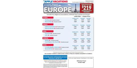 Paris, France Vacation Packages! , Raleigh, North Carolina