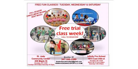 Free sports and dance class kids dance sport brooklyn for 15 st judes terrace dural