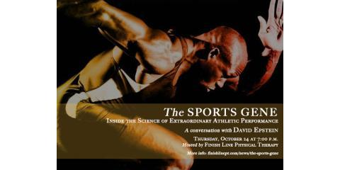 Join Finish Line Physical Therapy on October 24th for a Special Q&A With Sports Writer David Epstein, Manhattan, New York