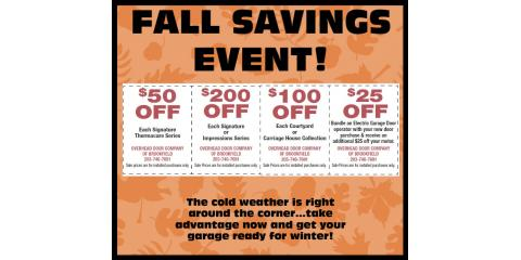 Fall Savings Event!, ,