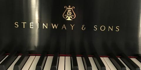 Just installed a beautiful brass decal on Steinway from 1911, Louisville, Kentucky