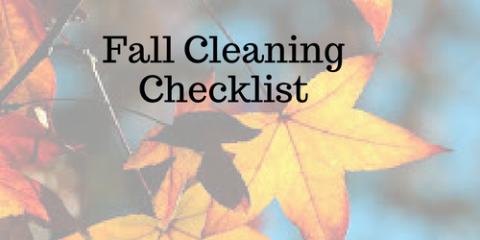 Fall House Cleaning Checklist, Columbia, Missouri
