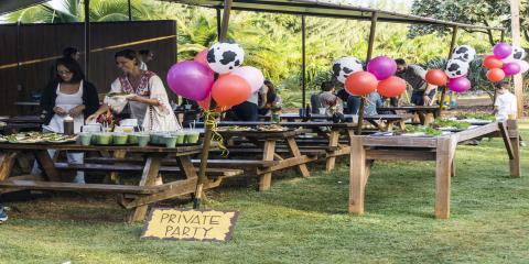 Birthday Parties & Other Celebrations at Kahuku Farms, Kahuku, Hawaii