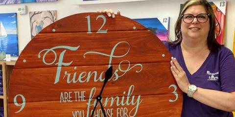 How to Paint Your Own Farmhouse Clocks With Paintbrushes & Party, La Grange, New York