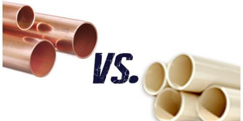 Copper vs pvc pipes fast rooter plumbing explains the for Plastic plumbing vs copper