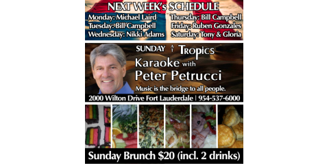 Karaoke & Sunday Brunch a winning combination , Fort Lauderdale, Florida