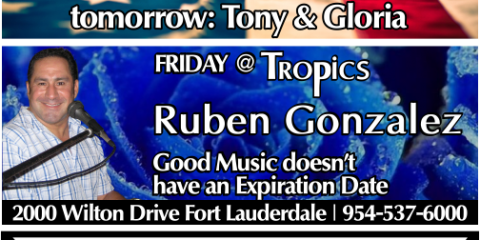 Life Entertainment with Ruben & Reverse Happy Hour, Fort Lauderdale, Florida
