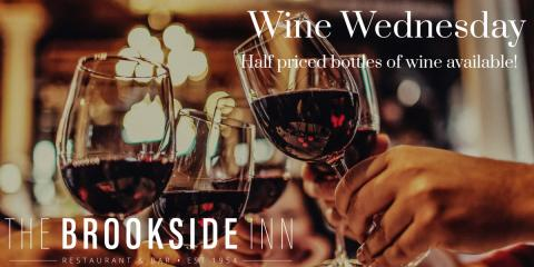 Half priced bottles of wine are available tonight for #winewednesday #supportlocal, Oxford, Connecticut