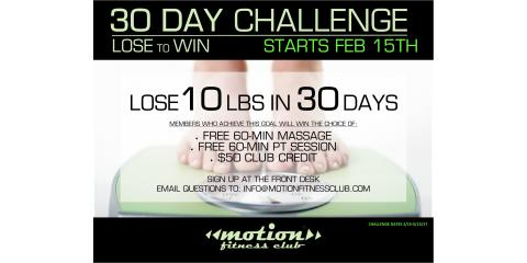 Motion Fitness-Weight Loss Challenge!, Millburn, New Jersey