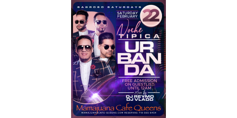 URBANDA- NOCHE TIPICA - FEB 22- MAMAJUANA CAFE QUEENS , New York, New York