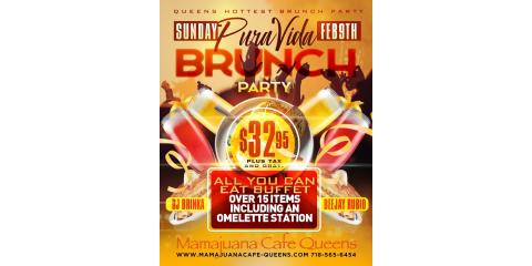 PURA VIDA BRUNCH PARTY- SUNDAY FEB 9th- MAMAJUANA CAFE QUEENS , New York, New York