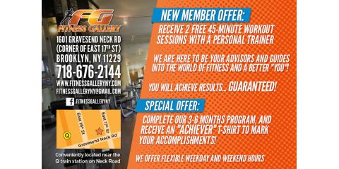 Fitness Gallery Offers New Year Discount for Friends and Groups, Brooklyn, New York