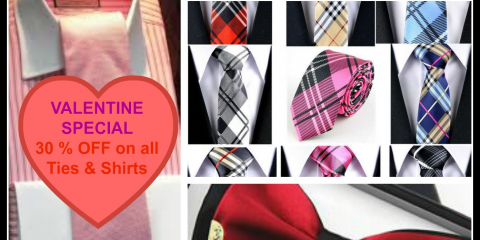 Valentine's Day Special: 30% OFF on Ties and Shirts., Carmel, Indiana