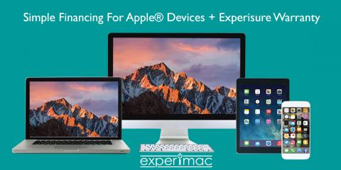 Simple Financing For Apple® Devices + Experisure Warranty at Experimac Canton OH, Canton, Ohio