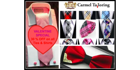 Look Sharp This Valentine's Day With a Special Deal From Carmel Tailoring & Fine Clothier, Carmel, Indiana