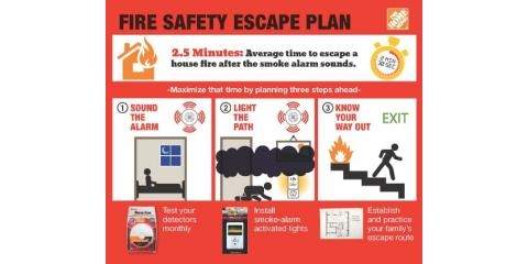 It's National Fire Prevention Week!  In the event of a fire, follow these tips to protect you and your family!!, Forked River, New Jersey