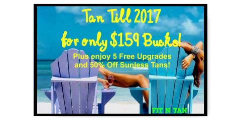 Stay Bronzed and Beautiful till 2017 with Tanning for Less!, St. Charles, Missouri