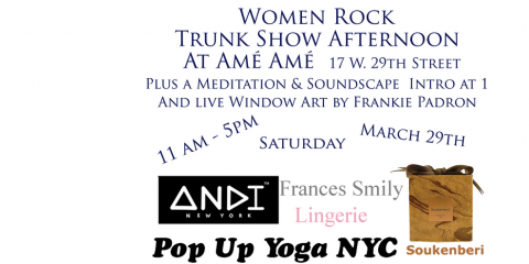 """Find Unique Gifts and Meet Their Designers at Our """"Women Rock Trunk Show"""" in Honor of Women's History Month, Manhattan, New York"""