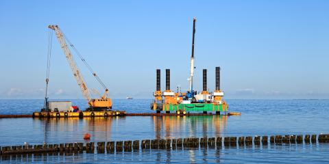 The Proper Method for Securing a Crane to a Barge, Koolaupoko, Hawaii