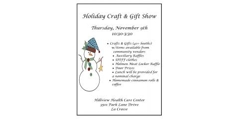 Spread the word....The Hillview Holiday Craft & Gift Show is tomorrow!!!! , La Crosse, Wisconsin