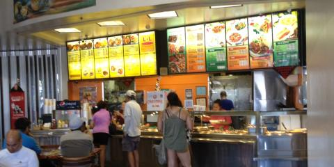 3 Dining Experience Differences Between a Restaurant & a Food Court, Kahului, Hawaii