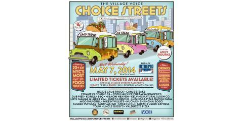 Join The City's Best Food Trucks For The Village Voice's 3rd Annual Choice Street Food Truck Event on Wednesday, May 7th , Brooklyn, New York