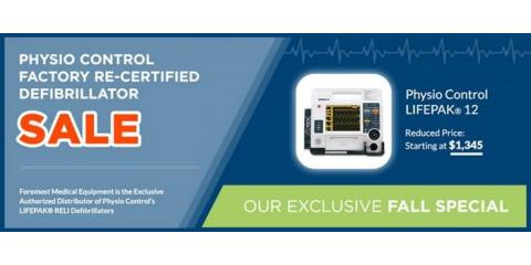 Physio Control Factory Re-Certified Defibrillator SALE, Henrietta, New York