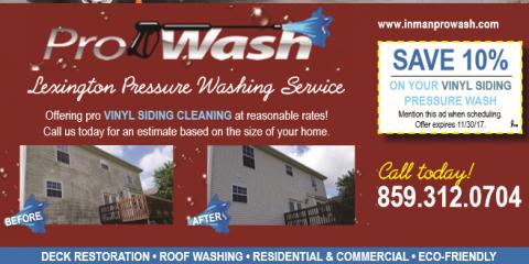 House Washing Deal, Lexington-Fayette, Kentucky