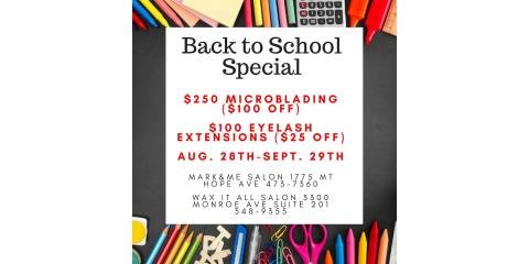 Back to School Microblade/Lash Special, Pittsford, New York