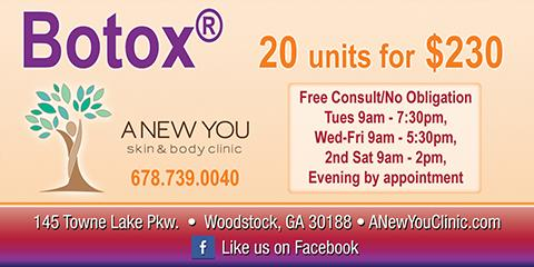 20 Botox® Units for Only $230 & a Free Consultation, Woodstock, Georgia