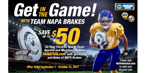 Get In The Game With Napa Brakes! , Hazelwood, Missouri