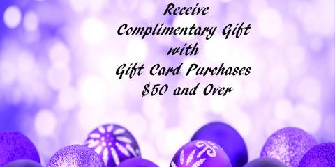Free Gift with Gift Card Purchase, Topsail, North Carolina