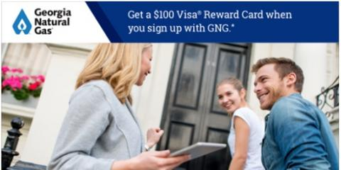 Get a $100 Visa Reward Card when you sign up with GNG., Atlanta, Georgia