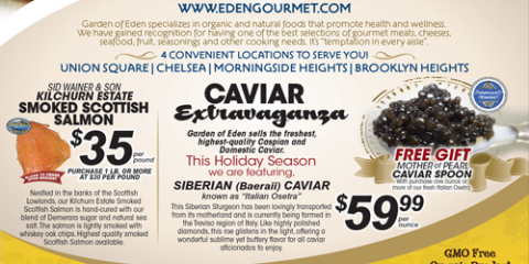 Smoked Salmon & Caviar Holiday Specials!, Brooklyn, New York