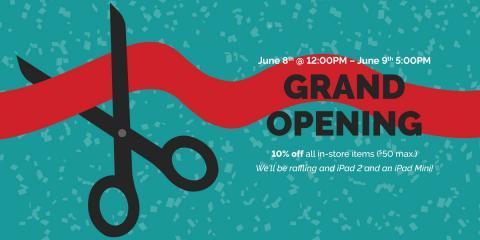 Register for the Grand Opening Raffle, Solon, Ohio