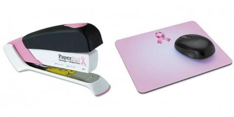 Honor Breast Cancer Awareness Month With Pink Ribbon Office Supplies From Green Castle, Boston, Massachusetts