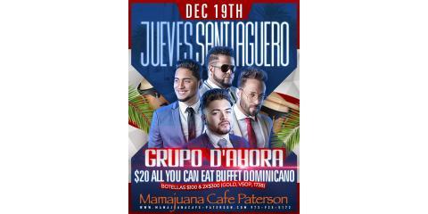 JUEVES SANTIAGUEROS- DEC 19th- MAMAJUANA CAFE PATERSON , Paterson, New Jersey