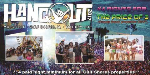 Hangout Music Festival 2017 Availability Now! , Gulf Shores, Alabama