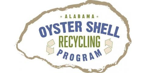 Oyster shell recycling to build new oyster reefs on The Alabama Gulf Coast, Gulf Shores, Alabama