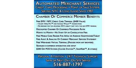 Automated Merchant Services Provides Local On-Site Service, Hempstead, New York